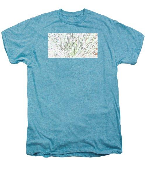 Succulent Leaves In High Key Men's Premium T-Shirt by Nareeta Martin