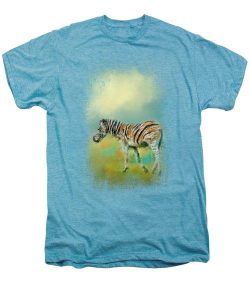 Summer Zebra 2 Men's Premium T-Shirt by Jai Johnson