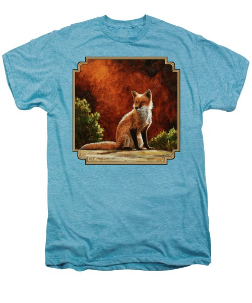 Sun Fox Men's Premium T-Shirt by Crista Forest