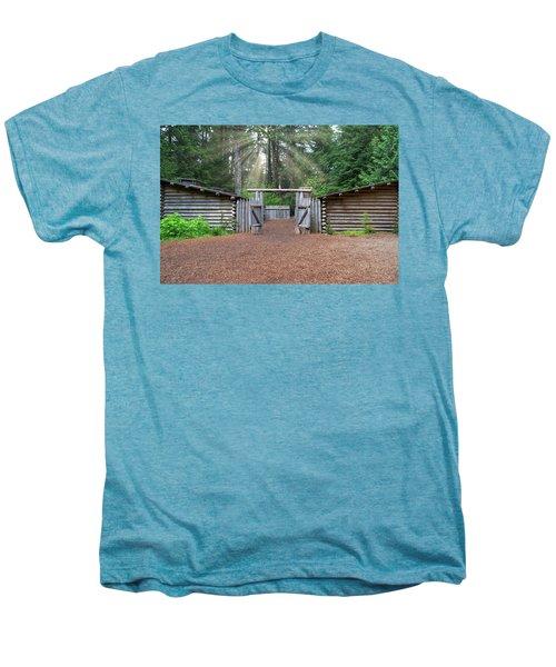 Sun Rays Over Fort Clatsop Men's Premium T-Shirt