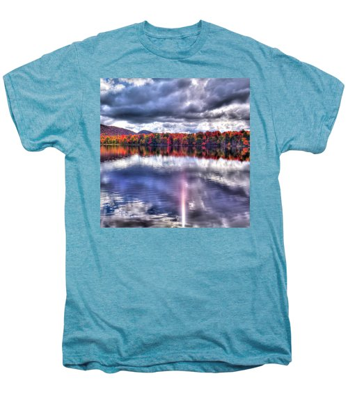 Men's Premium T-Shirt featuring the photograph Sun Streaks On West Lake by David Patterson