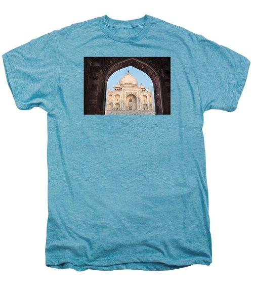 Sunrise Arches Of The Taj Mahal Men's Premium T-Shirt