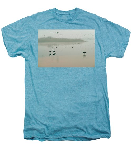 Men's Premium T-Shirt featuring the photograph Sunrise Over The Hula Valley Israel 2 by Dubi Roman