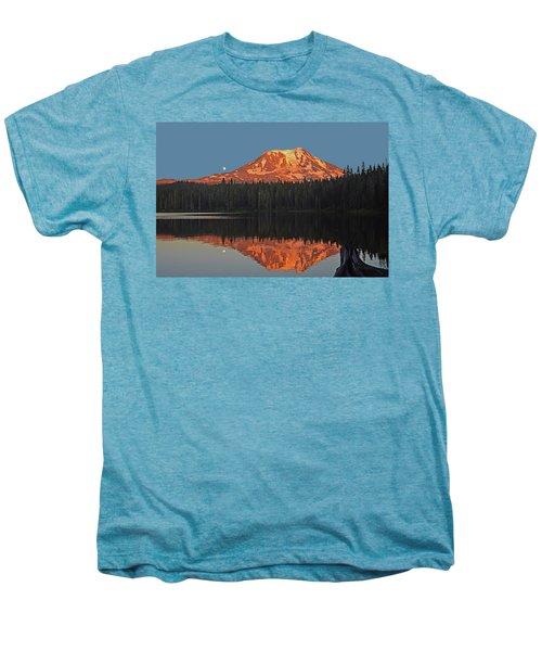 Sunset And Moonrise At Takhlakh Lake Men's Premium T-Shirt