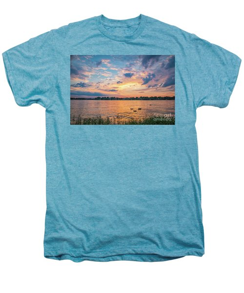 Sunset At Morse Lake Men's Premium T-Shirt