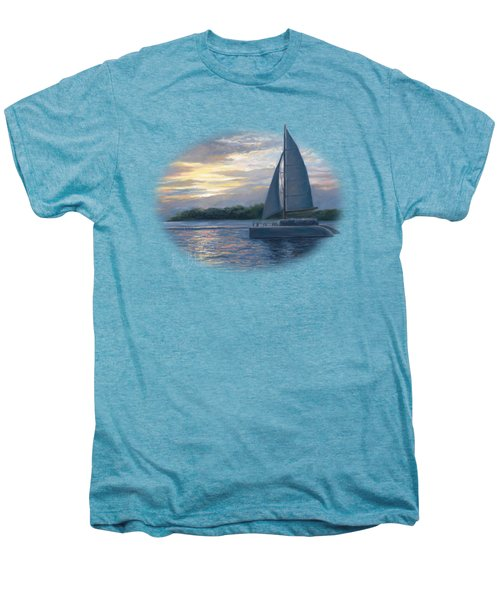 Sunset In Key West Men's Premium T-Shirt by Lucie Bilodeau