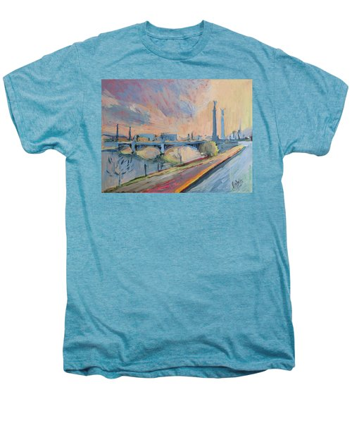 Sunset Pont Fragnee Men's Premium T-Shirt by Nop Briex