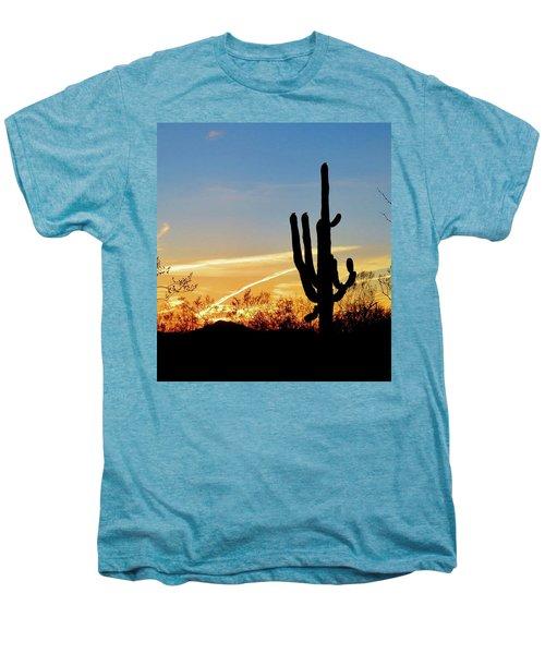 Sunset Saguaro In The Spring Men's Premium T-Shirt