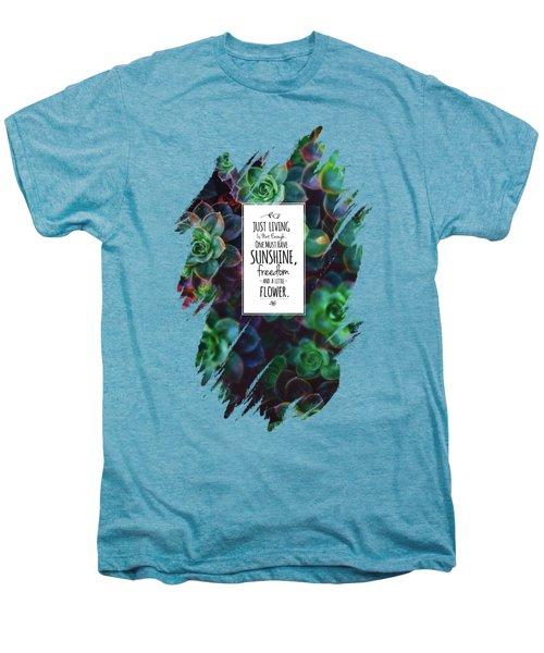 Sunshine, Freedom, Flower Men's Premium T-Shirt by Atelier Seneca