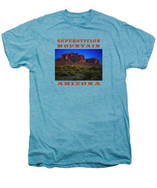 Superstition Mountain Sunset Men's Premium T-Shirt