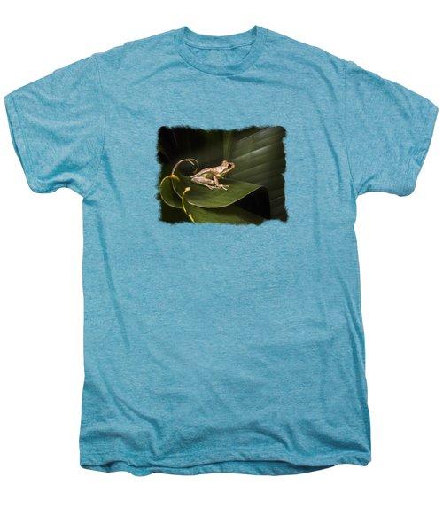 Surfing The Wave Bordered Men's Premium T-Shirt by Debra and Dave Vanderlaan