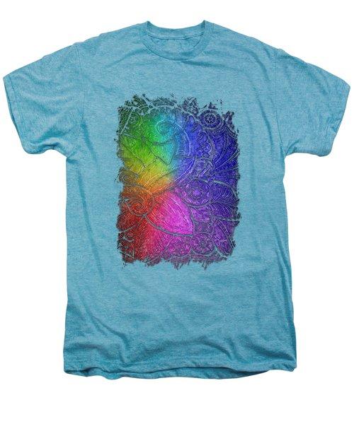 Swan Dance Cool Rainbow 3 Dimensional Men's Premium T-Shirt by Di Designs