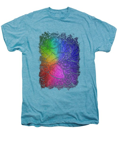 Swan Dance Cool Rainbow 3 Dimensional Men's Premium T-Shirt