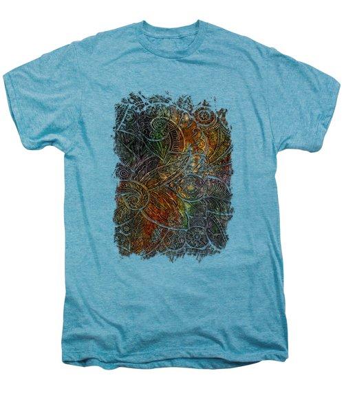 Swan Dance Muted Rainbow 3 Dimensional Men's Premium T-Shirt by Di Designs