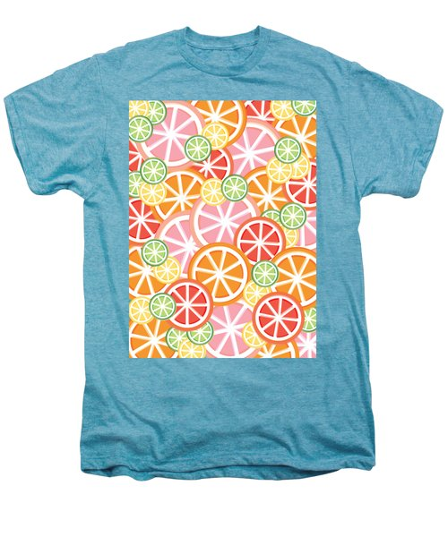 Sweet And Sour Citrus Print Men's Premium T-Shirt by Lauren Amelia Hughes