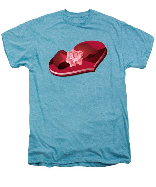 Sweetheart Candy Box With Pink Rose Men's Premium T-Shirt