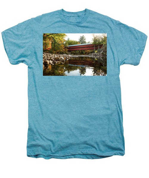 Swift River Covered Bridge Men's Premium T-Shirt