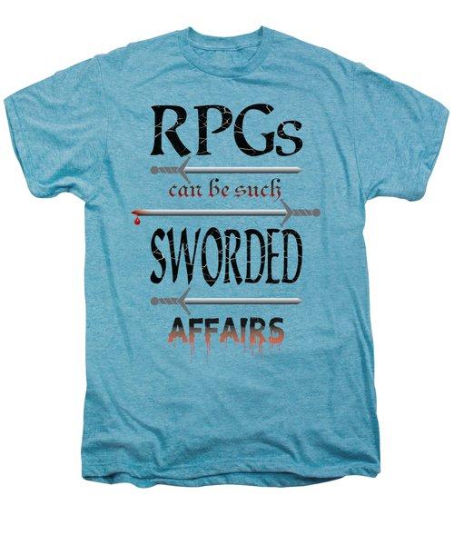 Sworded Affairs Light Men's Premium T-Shirt by Jon Munson II