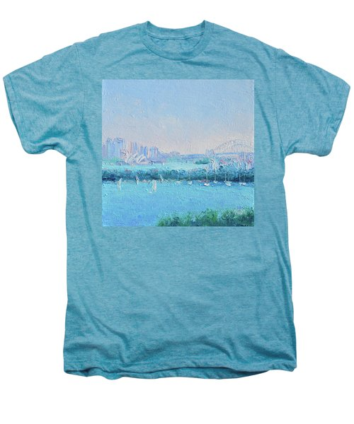 Sydney Harbour And The Opera House Men's Premium T-Shirt by Jan Matson