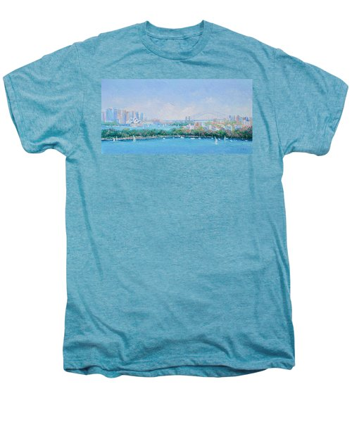 Sydney Harbour Bridge - Sydney Opera House - Sydney Harbour Men's Premium T-Shirt by Jan Matson