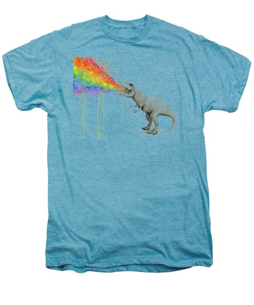 T-rex Tastes The Rainbow Men's Premium T-Shirt