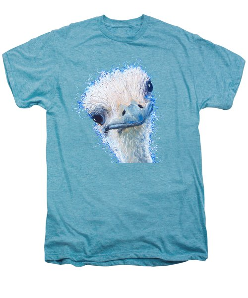 T-shirt With Emu Design Men's Premium T-Shirt by Jan Matson