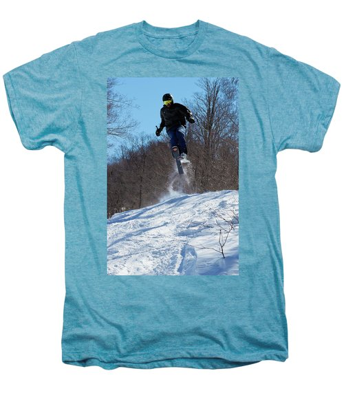 Men's Premium T-Shirt featuring the photograph Taking Air On Mccauley Mountain by David Patterson