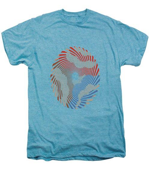 Taupe Ring Pattern Men's Premium T-Shirt