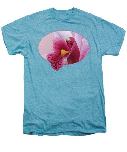 Temptation - Pink Cymbidium Orchid Men's Premium T-Shirt by Gill Billington