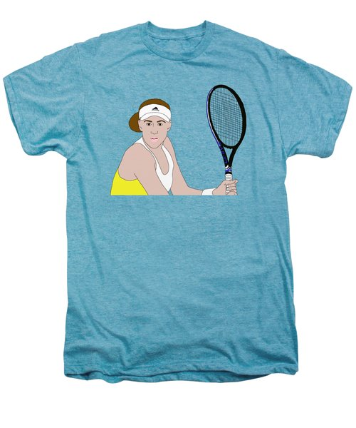Tennis Player Men's Premium T-Shirt by Priscilla Wolfe