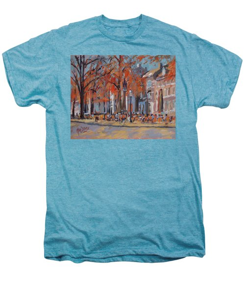 Terrace In The Grand Tanners Street Maastricht Men's Premium T-Shirt by Nop Briex