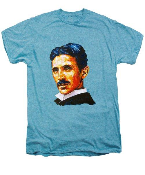 Tesla - Pure Genius Men's Premium T-Shirt by Konni Jensen