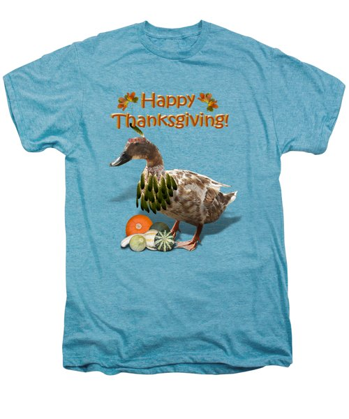 Thanksgiving Indian Duck Men's Premium T-Shirt by Gravityx9 Designs