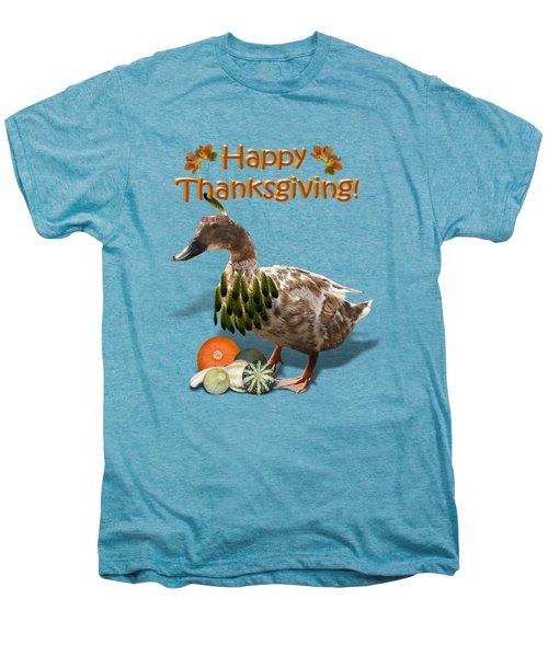 Thanksgiving Indian Duck Men's Premium T-Shirt