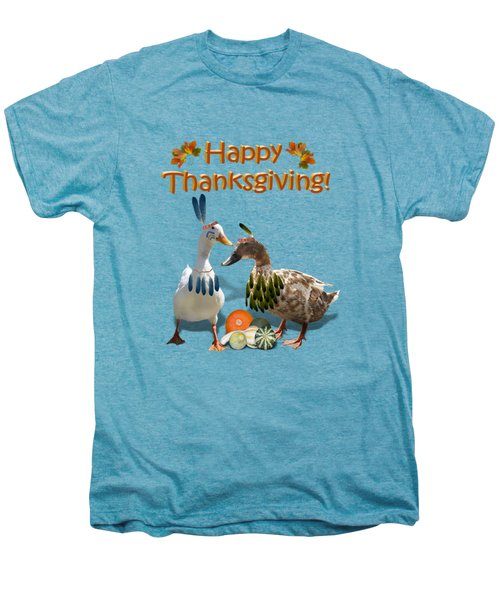 Thanksgiving Indian Ducks Men's Premium T-Shirt by Gravityx9  Designs