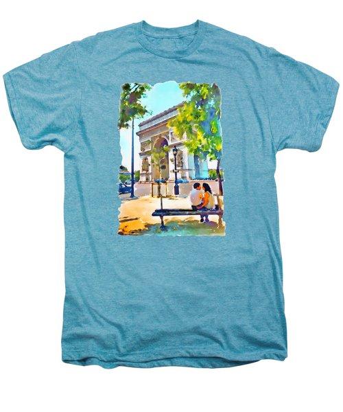 The Arc De Triomphe Paris Men's Premium T-Shirt by Marian Voicu