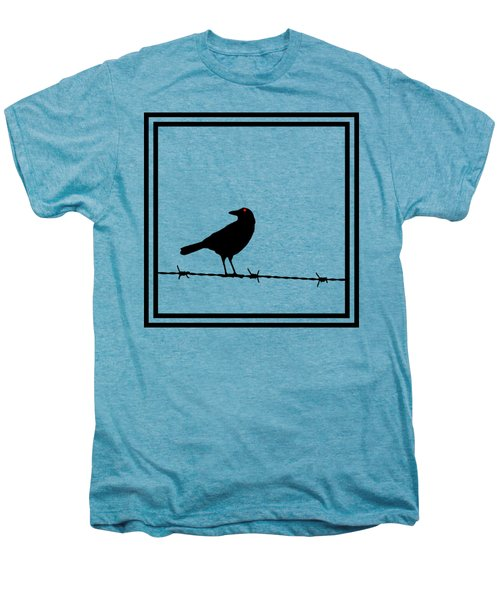 The Black Crow Knows T-shirt Men's Premium T-Shirt by Edward Fielding
