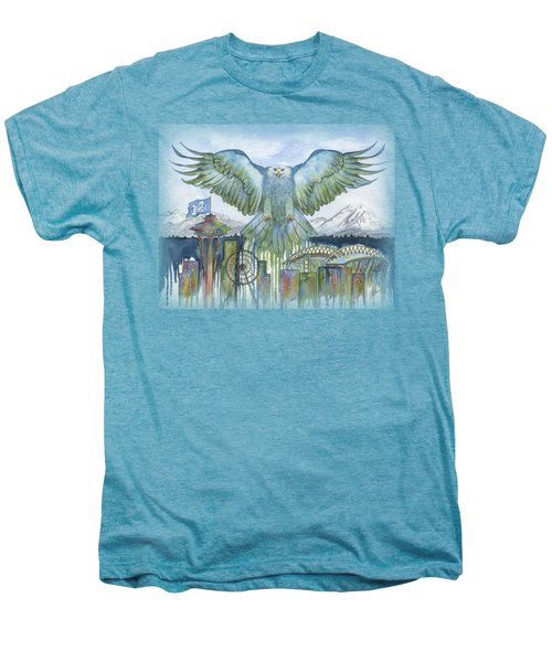 The Blue And Green Men's Premium T-Shirt