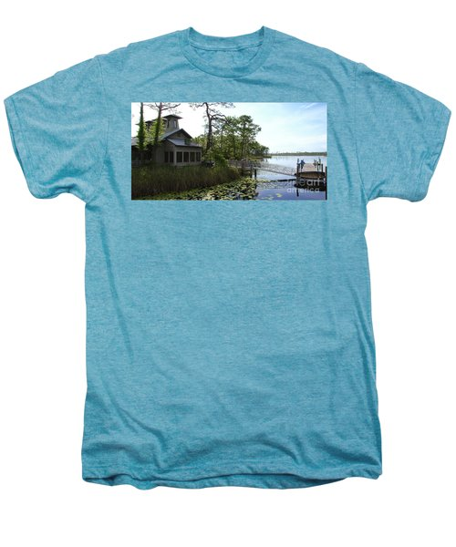 The Boathouse At Watercolor Men's Premium T-Shirt by Megan Cohen