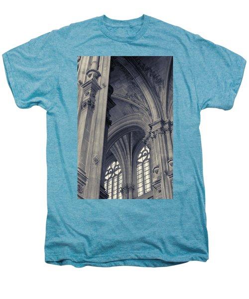 The Columns Of Saint-eustache, Paris, France. Men's Premium T-Shirt by Richard Goodrich