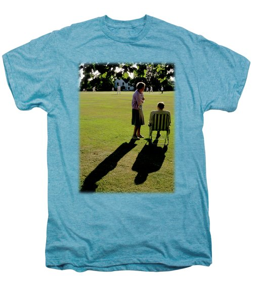 The Cricket Match Men's Premium T-Shirt by Jon Delorme