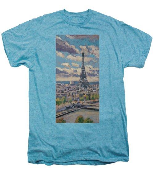 The Eiffel Tower Paris Men's Premium T-Shirt by Nop Briex