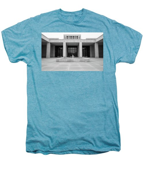 The George W. Bush Presidential Library And Museum  Men's Premium T-Shirt by Robert Bellomy