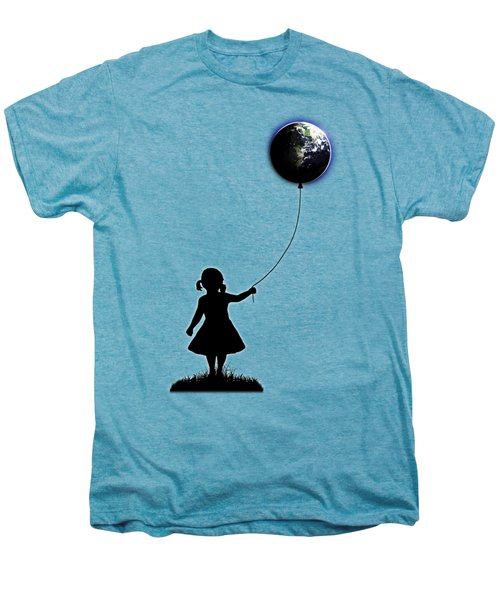 The Girl That Holds The World - White  Men's Premium T-Shirt by Nicklas Gustafsson