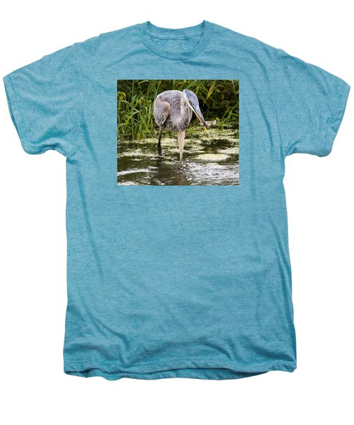 Men's Premium T-Shirt featuring the photograph The Great Blue Heron by Ricky L Jones