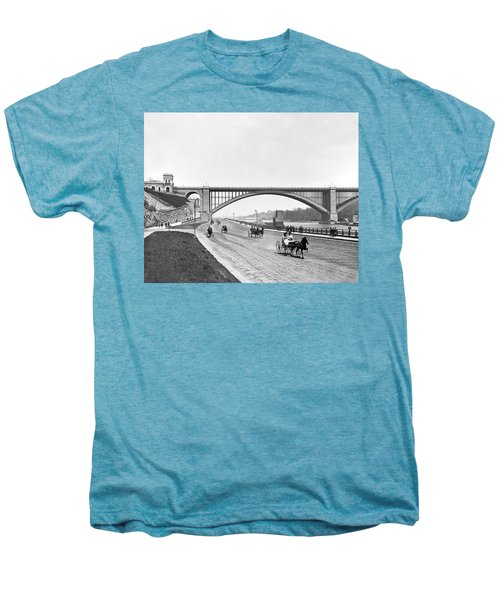 The Harlem River Speedway Men's Premium T-Shirt by William Henry jackson