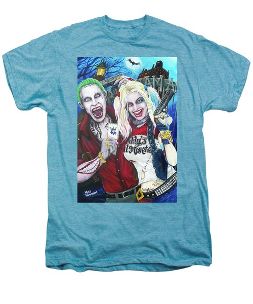 The Joker And Harley Quinn Men's Premium T-Shirt by Michael Vanderhoof