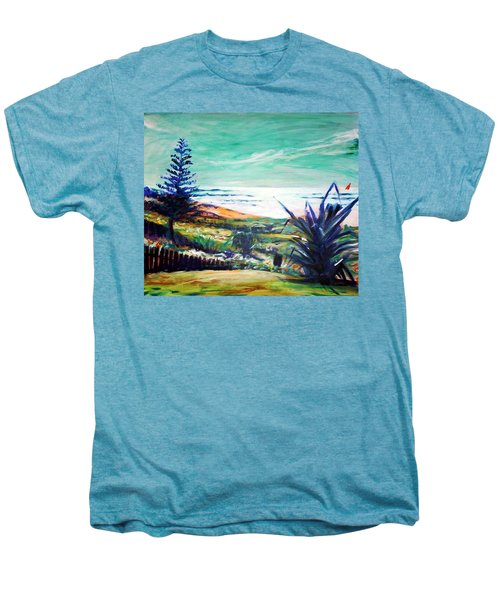 Men's Premium T-Shirt featuring the painting The Lawn Pandanus by Winsome Gunning