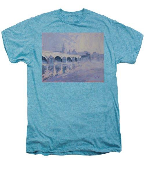 The Old Bridge Of Maastricht In Morning Fog Men's Premium T-Shirt by Nop Briex