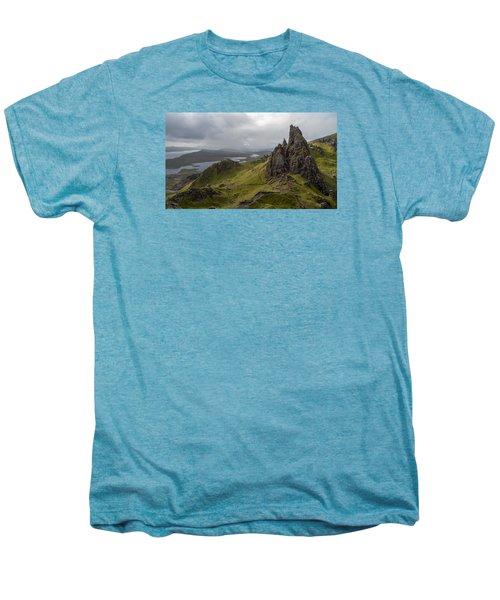 The Old Man Of Storr, Isle Of Skye, Uk Men's Premium T-Shirt by Dubi Roman